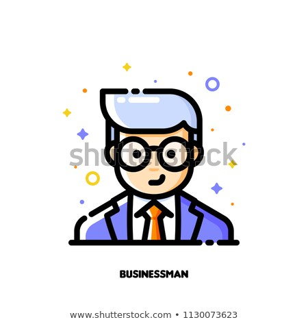male user avatar of manager icon of cute boy face flat filled stock photo © ussr