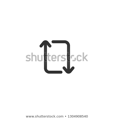repeat refresh upgrade rectangle arrows. Vector illustration isolated on white background. Stock photo © kyryloff