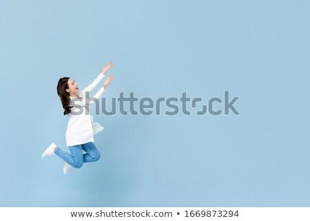 Levitation - A Space Women Portrait Floating Stock photo © solarseven