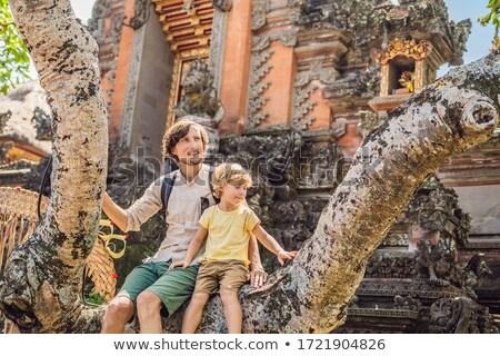 Baba oğul tapınak bali ada Endonezya Stok fotoğraf © galitskaya