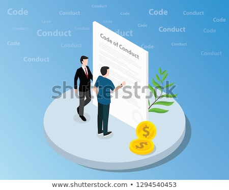 Hombre de negocios pie monedas eps 10 negocios Foto stock © netkov1
