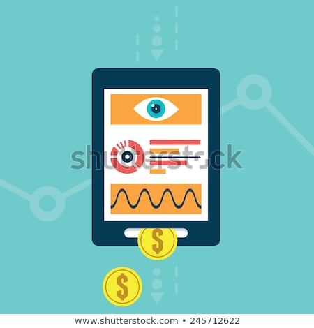 Data monetization concept landing page. Stock photo © RAStudio