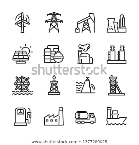 Gas tower icon Stock photo © angelp