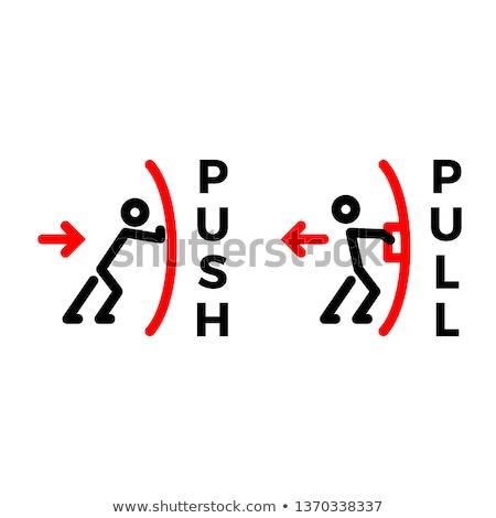 push pull output input sign Stock photo © djdarkflower
