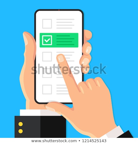 Ligne enquête case smartphone écran main Photo stock © Winner