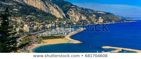 colorful cote d azur town of menton harbor and architecture view stock photo © xbrchx