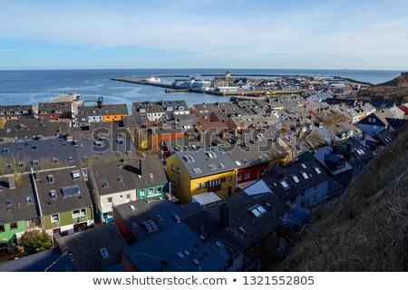 Techos residencial superior vista tradicional colorido Foto stock © artush