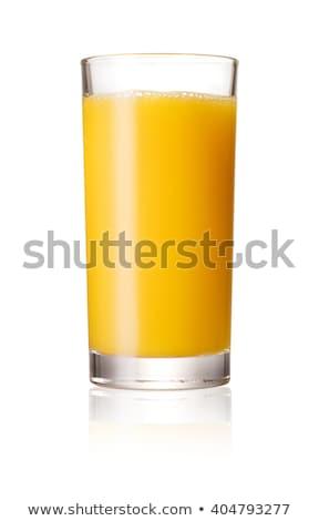 Stockfoto: Glas · sinaasappelsap · vers · sinaasappelen · houten · achtergrond