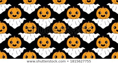 Cartoon ghost with a pumpkin Stock photo © bennerdesign