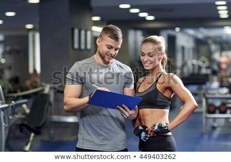 Help of fitness instructor Stock photo © pressmaster
