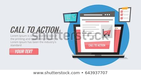 Sprzedaży lądowanie strona klienta rozmowy smartphone Zdjęcia stock © RAStudio