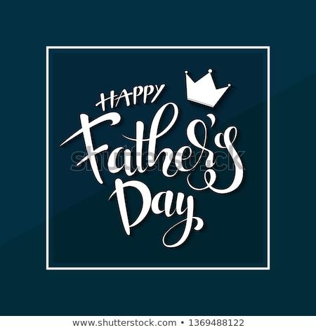 élégante jour de pères heureux bannière homme heureux vacances Photo stock © SArts