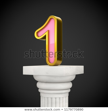 Black outline font Number 1 ONE 3D Stock photo © djmilic