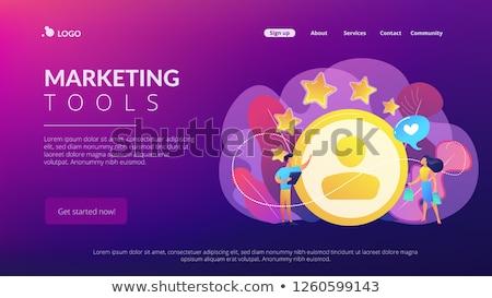 Satisfaction fidélité analyse app interface modèle Photo stock © RAStudio