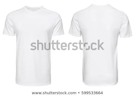 Fronte tshirt bianco gradiente donna Foto d'archivio © adamson
