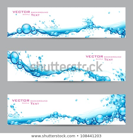 Splash water blue graphic design template vector Stock photo © haris99