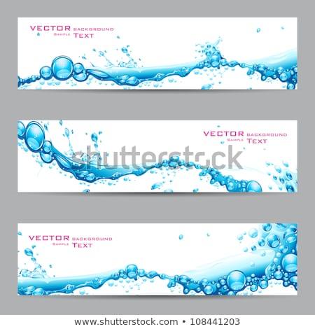csobbanás · víz · kék · grafikai · tervezés · sablon · vektor - stock fotó © haris99