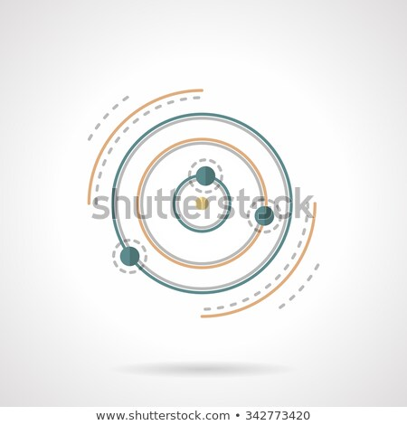 Modern bilimsel uzay uydu yörünge Stok fotoğraf © mechanik