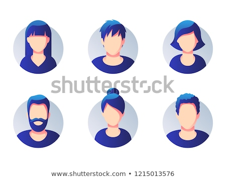 Male User Round Icon Vector Isolated Man Anonymous Stock photo © robuart