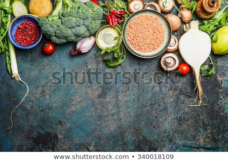 Grains and seeds variety - healthy food concept Stock photo © lightkeeper