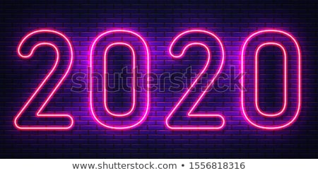 background of 2020 with neon light  Stock photo © ssuaphoto