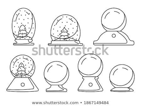 Snow Globe With Fir-tree Souvenir Vintage Vector Stock photo © pikepicture
