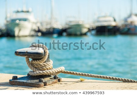 Stock photo: Roped to the dock
