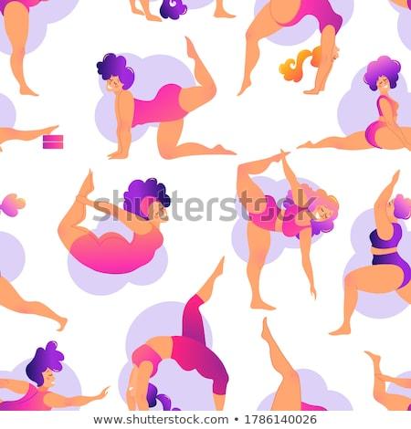 Różnorodny ludzi jogi wykonywania zewnątrz Zdjęcia stock © cienpies