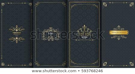 lüks · siyah · altın · dizayn · bağbozumu - stok fotoğraf © blue-pen