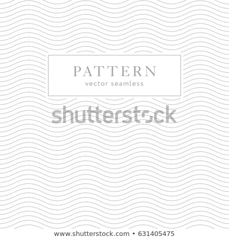 Vector modern elegant seamless wavy line pattern Stock photo © blumer1979