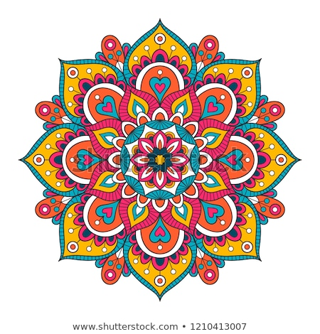 Mandala design in red and yellow color Stock photo © bluering