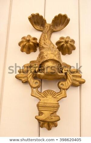 détail · vintage · porte · FLORENCE · Italie · maison - photo stock © boggy