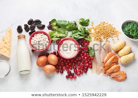 Produtos rico vitaminas mineral branco Foto stock © Illia