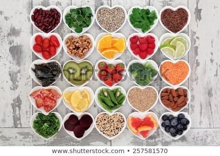 Heart shape of food health for heart.  Stock photo © Illia