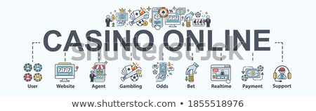 Betting And Gambling Minimal Infographic Banner Vector Stock photo © pikepicture
