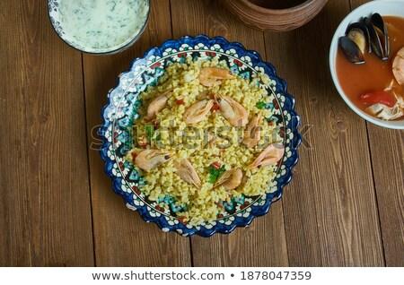 bulgur with seafood Stock photo © tycoon