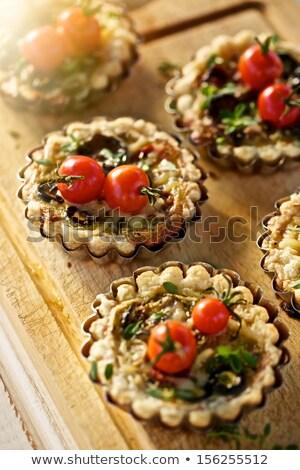 Mini tomates cherry mozzarella queso verde superior Foto stock © Illia