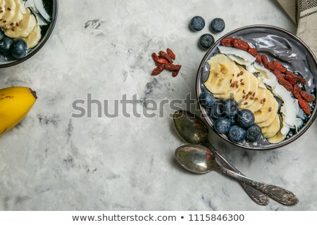 Black charcoal smoothie with goji Stock photo © furmanphoto