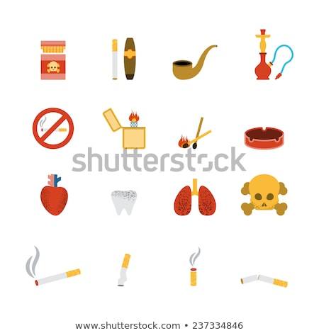 Addiction Bad Habits Collection Icons Set Vector Stock photo © pikepicture