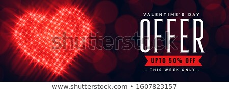 valentines day offer banner with discount details Stock photo © SArts