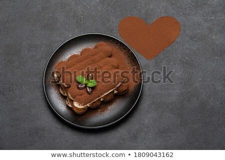 Klasyczny niebieski proszek serca kolor Zdjęcia stock © artjazz
