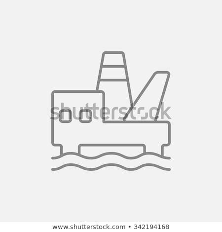 Olaj tenger vágány ikon vektor skicc Stock fotó © pikepicture