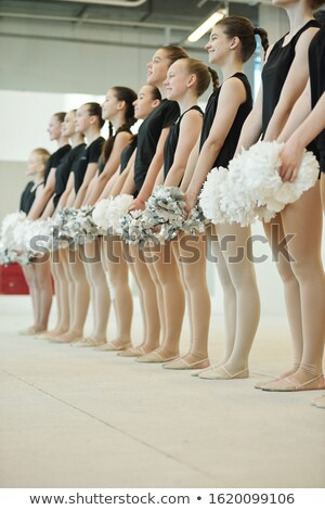 Participants of cheerleading competition Stock photo © pressmaster