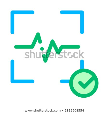 Bevestiging actie stem controle icon vector Stockfoto © pikepicture
