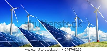 Durable énergie production vent roues nature Photo stock © elxeneize