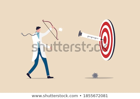 Vaccin target bacterie cel icon ontwikkeling Stockfoto © Olena