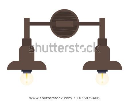 Biustonosz żyrandol ściany świetle podstawowy meble Zdjęcia stock © robuart