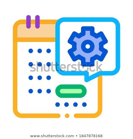 Teknik gün takvim ikon vektör Stok fotoğraf © pikepicture