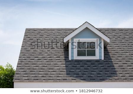 Сток-фото: старые · крыши · украшение · красивой · дождь · трубы