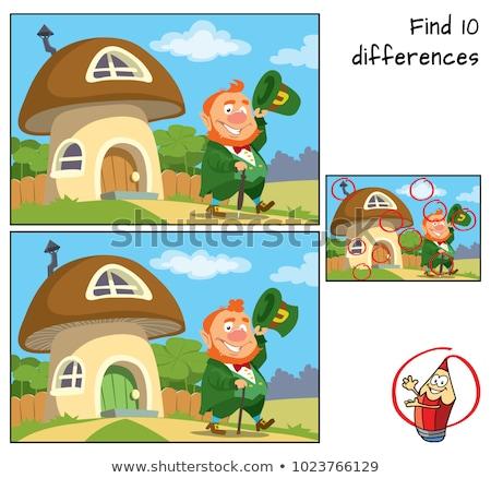 Erraten Phantasie Zeichen Spiel Kinder Karikatur Stock foto © izakowski